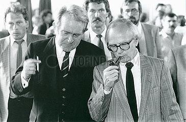 Johannes Rau  Friedrich Nowottny  1986