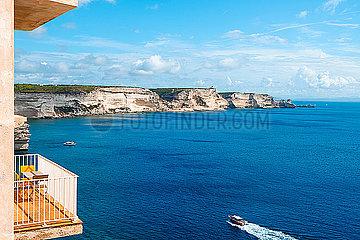 Balcony over the Mediterranean sea
