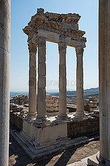 Turkey  Bergama  Acropolis  temple  Trajaneum