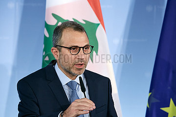 Berlin  Deutschland - Gebran Bassil  libanesischer Aussenminister.