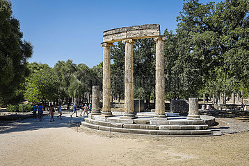 Antikes Olympia  Elis  Peloponnes  Griechenland