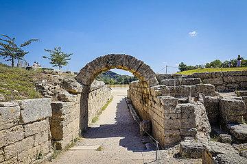 Antikes Olympia  Messenien  Peloponnes  Griechenland