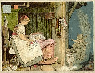 Weihnachtsgeschichte  Illustration  1885