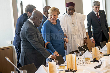 Zuma + Merkel + Issoufou