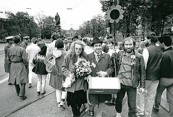 erster Einzug der Gruenen in den Bayerischen Landtag  1986