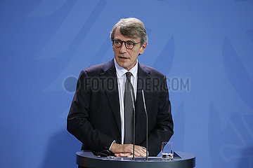 Bundeskanzleramt Treffen Merkel Sassoli