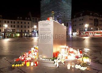 Kerzen am 09.10.2019 in Halle (Saale)