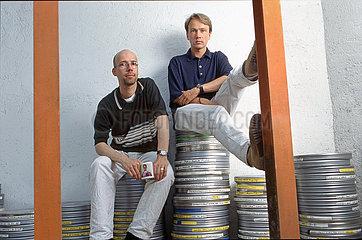 Jakob Claussen  Thomas Woebke  Filmproduzenten  Muenchen  1996