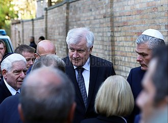 Seehofer am 10.10.2019 in Halle