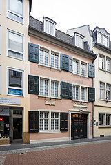 Geburtshaus von Ludwig van Beethoven  Altstadt  Bonn  Nordrhein-Westfalen  Deutschland