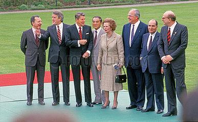 Bonner Wirtschaftsgipfel 1985  offizielles Gruppenfoto der Staatschefs