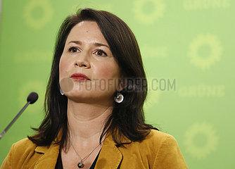 Pressekonferenz Die Gruenen vor der Landtagswahl in Thueringen
