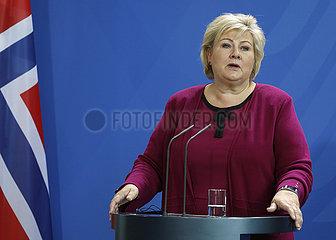 Bundeskanzleramt Treffen Merkel Solberg