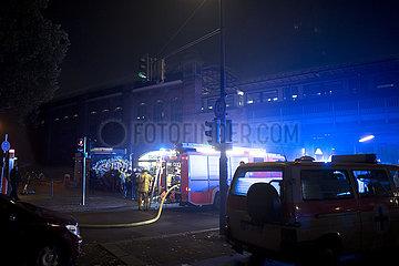 Sonderzug in Berlin in Brand