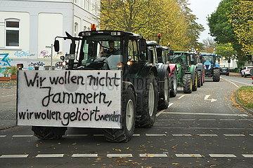 Bauernproteste Trecker-Demo in Oldenburg