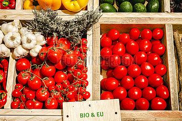 Bio-Tomaten im Bio-Markt  ANUGA Lebensmittelmesse  Koeln  Nordrhein-Westfahlen  Deutschland