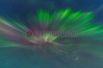 Northern Lights movement and colors