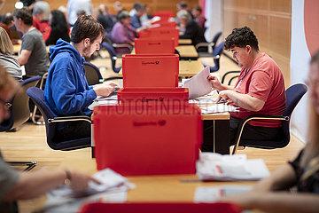SPD Auszaehlung Mitgliederbefragung