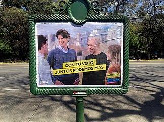 Wahlplakat in Buenos Aires 2019