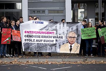 Protest gegen Enteignungen - Parteitag SPD Berlin