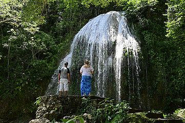 Cuba  Soroa- Wasserfall Salto de Arco Iris