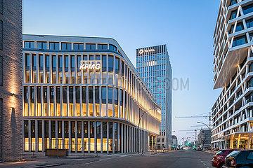 Neubau von Buerogebaeuden fuer KPMG  Total und 50Hertz in der Europa-City in der Heidestrasse in Berlin-Moabit