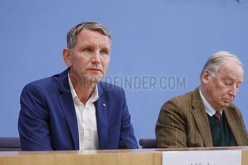 Bundespressekonferenz zum Thema: AfD - Auswirkungen der Landtagswahlen in Thueringen auf die Bundespolitik