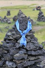 Steinmaennchen in der Mongolei