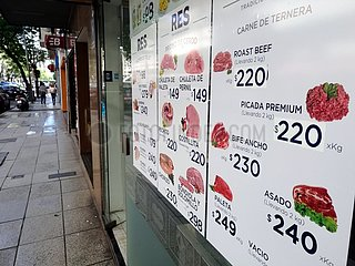 Preise fuer Fleisch in Argentinien