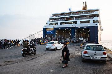 Kykladeninsel Naxos im Aegaeischen Meer
