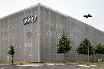 Autohaus der Marke Audi in der Rudower Chaussee Ecke North-Willys-Strasse in Berlin-Adlershof