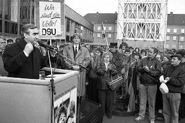 Theo Waigel  DDR Volkskammerwahl  Wahlkampf  1990