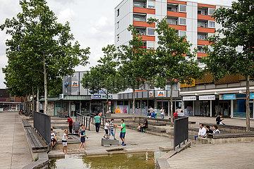 Einkaufspassage in der Porschestrasse in Wolfsburg