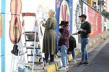 IRAK-BAGDAD-GRAFFITI
