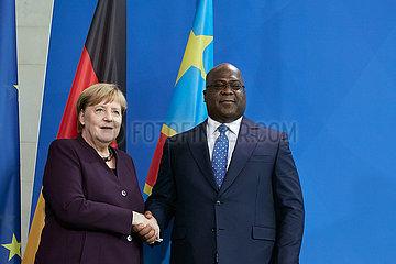 Berlin  Deutschland - Bundeskanzlerin Angela Merkel und Felix Antoine Tshisekedi Tshilombo  Praesident der Demokratischen Republik Kongo.