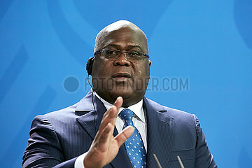 Berlin  Deutschland - Felix Antoine Tshisekedi Tshilombo  Praesident der Demokratischen Republik Kongo.