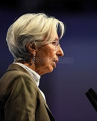 (Portraits) DEUTSCHLAND-FRANKFURT-EUROPEAN BANKING CONGRESS-CHRISTINE LAGARDE