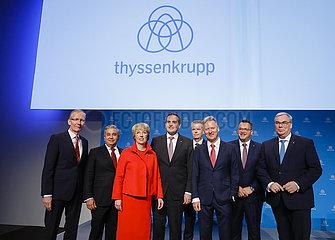 Vorstand der ThyssenKrupp AG  Bilanzpressekonferenz  Essen  Nordrhein-Westfalen  Deutschland  Europa