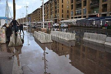 Überschwemmung in Marseille