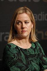 Pressegespraech und Veranstaltung The Friendship Tour - ein Zeichen gegen den Brexit mit britischen Schriftesterllern  Radio eins  Sendesaal des RBB
