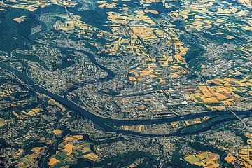 Luftaufnahme von Koblenz