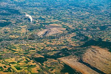 Luftaufnahme Tagebau Hambach