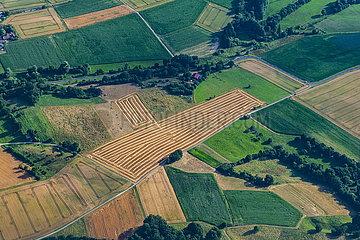 Luftaufnahme Landwirtschaft Deutschland