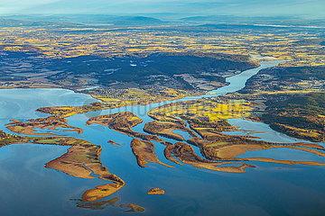 Oyeren See  Luftaufnahme