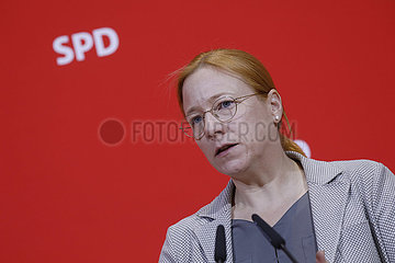 Pressekonferenz SPD  Willy-Brandt-Haus  25. November 2019