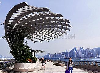 CHINA-Hongkong-DECLINE Ankünfte (CN)