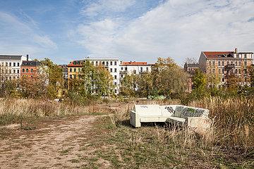 Jahrtausendfeld an der Karl-Heine-Strasse in Leipzig-Plagwitz