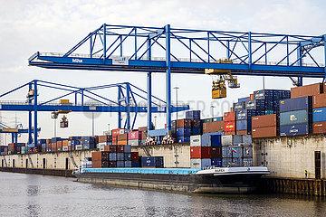 Duisburger Hafen  duisport logport  Ruhrgebiet  Nordrhein-Westfalen  Deutschland  Europa