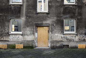Leerstehende Schrottimmobilien  Gelsenkirchen  Ruhrgebiet  Nordrhein-Westfalen  Deutschland