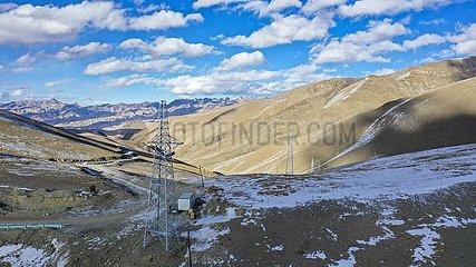 CHINA-XINJIANG-Taxkorgan-POWER GRID-CONSTRUCTION (CN)